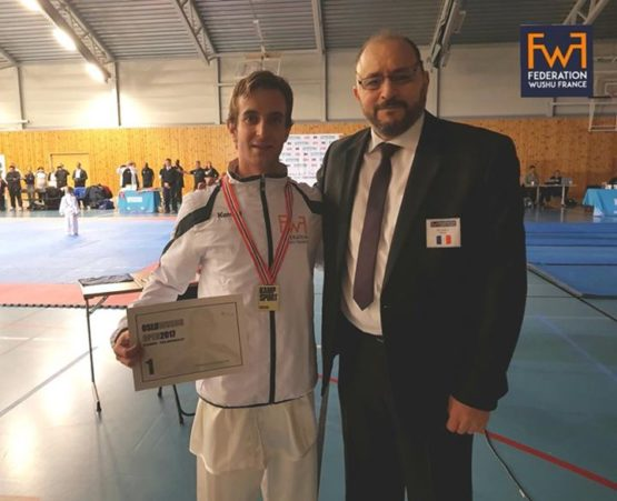 1ere médaille d'or pour Damien Todeschini ,Taiji mains nues optionnel