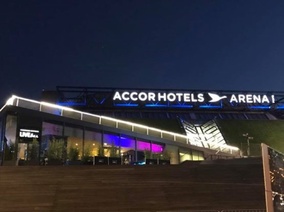 FWF - Fédération Wushu France added 2 new photos — at AccorHotels Arena.