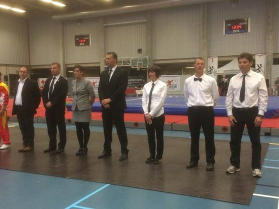 FWF - Fédération Wushu France added a new photo — at Sporthal Sint-Gillis-Dender...