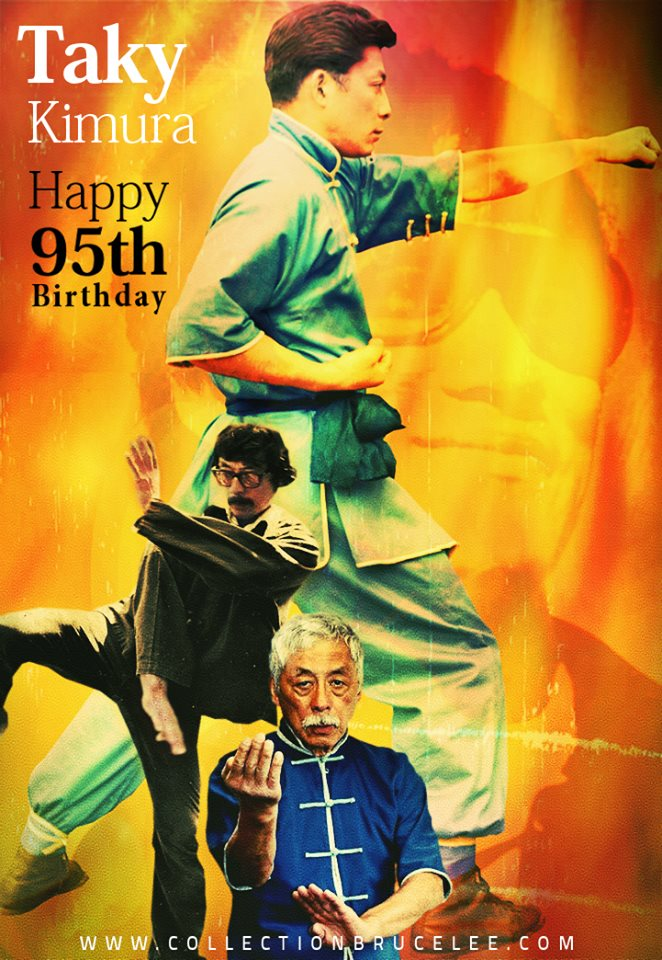Happy 95th Birthday from France Sigung Taky Kimura ;) www.collectionbrucelee.c...
